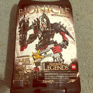 Nib - legos Bionicle strong is Glatorian legends.